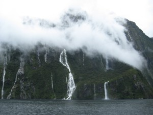 Milford Sound: one of the wettest places on Earth